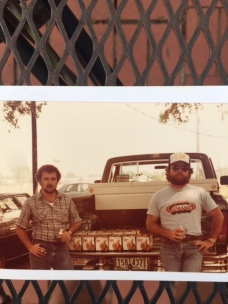 Donnie Gray and I behind my truck in Baton Rouge, L.S.U.